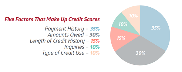 Credit Score Breakdown Pie Chart